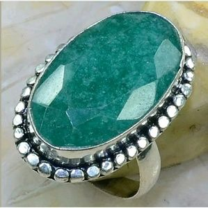 Emarald .925 Sterling Silver Ring Size 10